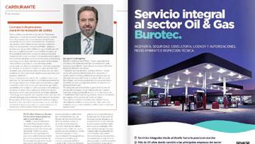 """Entrevista al director general de Burotec en la revista """"estaciones de servicio"""""""