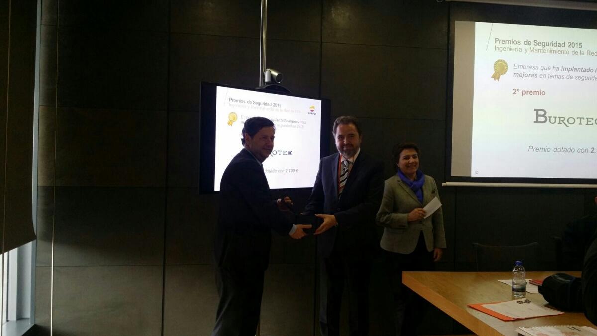 Reconocimiento de Repsol a la empresa Burotec